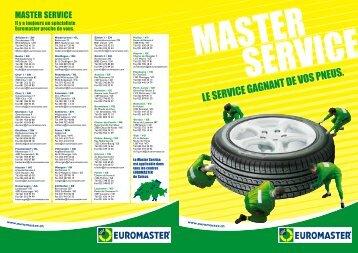 Master Service - Euromaster Suisse