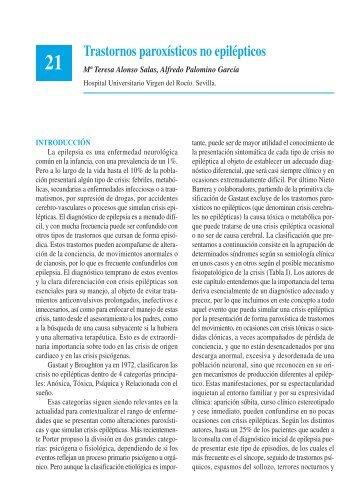 21. Trastornos paroxísticos no epilépticos - Asociación Española de ...