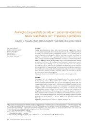Avaliação da qualidade de vida em pacientes edêntulos totais ...
