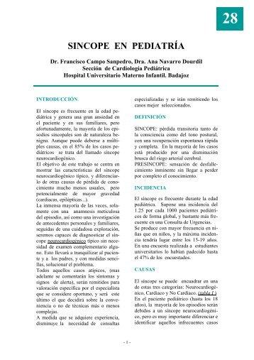 SINCOPE EN PEDIATRÍA - Asociación Española de Pediatría