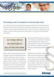 Audit & Compliance - datango AG