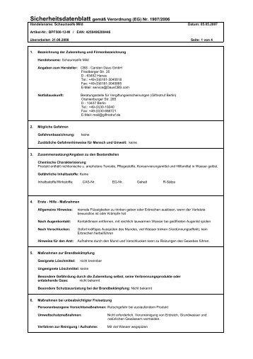 Datenblatt - CBS - Carsten Daus GmbH