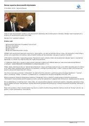 Nema raporta ekonomskih diplomata - Eps