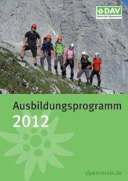 Ausbildungsprogramm - DAV Reutlingen