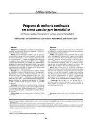 Programa de melhoria continuada em acesso vascular para ...