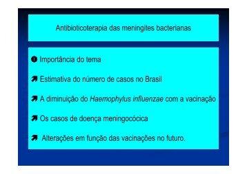 Antibioticoterapia das meningites bacterianas