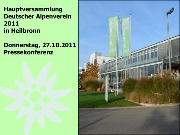 Pressekonferenz - DAV Sektion Heilbronn
