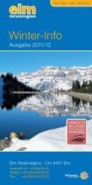 Winter-Info - Gemeinde Elm
