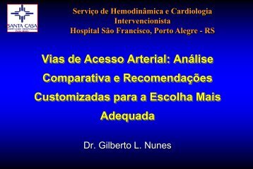 Vias de acesso arterial - SBHCI