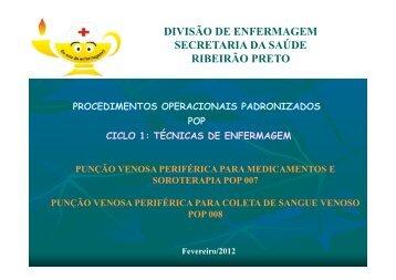 Punção venosa periférica e coleta de sangue venoso - Ribeirão Preto