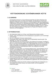 Hüttenordnung - DAV Sektion Mannheim