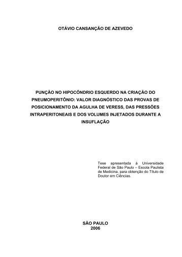 OTÁVIO CANSANÇÃO DE AZEVEDO PUNÇÃO NO ... - Cirurgiaonline