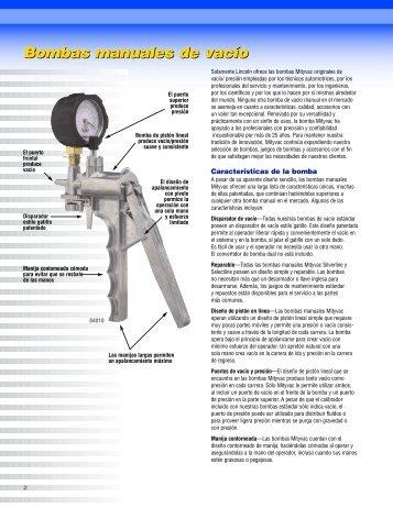 Bombas manuales de vacío - Lincoln Industrial