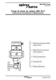 Purga de fondo de caldera ABV 20 P 1. Información ... - Spirax Sarco