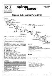 Sistema de Control de Purga BCS1 - Spirax Sarco