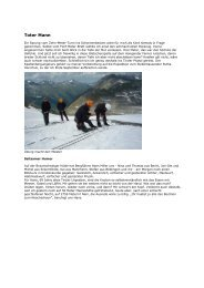 Reportage von Stefan Nestler - DAV Summit Club