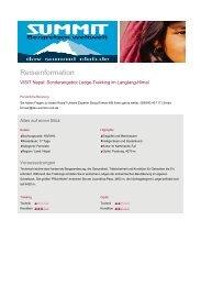 Reiseinformation - DAV Summit Club