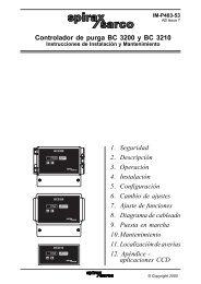 Controlador de purga BC3200 Y BC3210 - Spirax Sarco