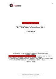 Edital Credenciamento COBRANÇA ALTERADO - Cohab-MG