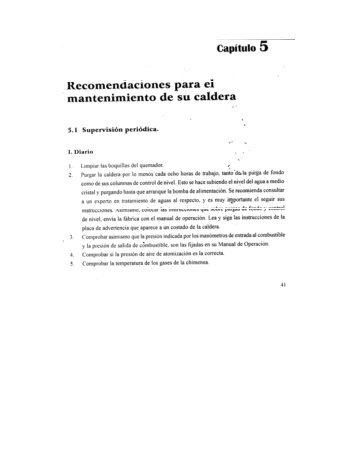 recomendaciones para el mantenimiento de su caldera