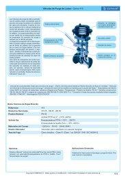 Válvulas de Purga de Lodos - Series 415 - COMEVAL