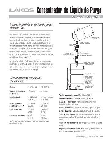 Concentrador de Líquido de Purga - Lakos