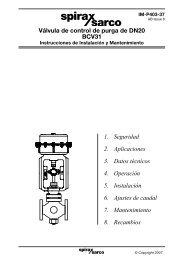 Válvula de purga BCV31 Instrucciones de Instalación ... - Spirax Sarco