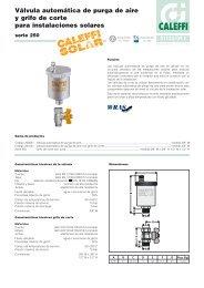 Válvula automática de purga de aire con grifo - Caleffi