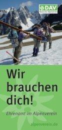 Folder Ehrenamt Wir-brauchen-Dich! - DAV Sektion Würzburg