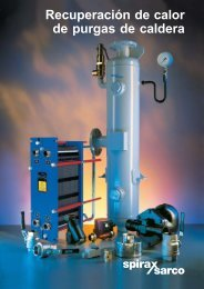 Recuperación de calor de purgas de caldera - Spirax Sarco