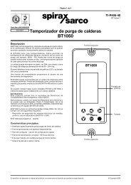 Temporizador de purga de calderas BT1050 - Spirax Sarco