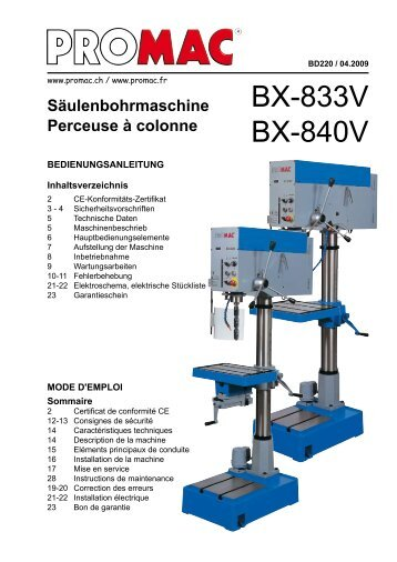 www.833v.com_Radialbohrmaschine / Perceuse radiale 387A