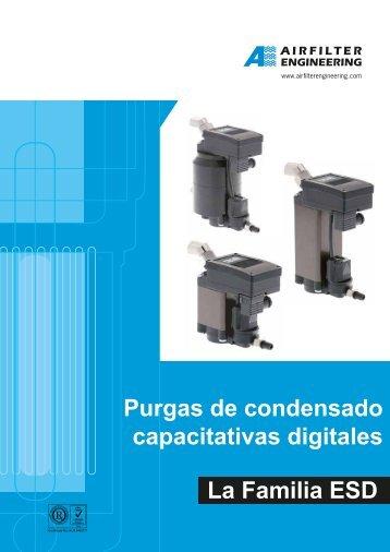 Purgas de condensado capacitativas digitales - Airfilter Europe