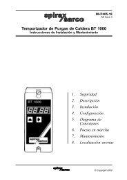 Temporizador de Purgas de Caldera BT 1000 1 ... - Spirax Sarco