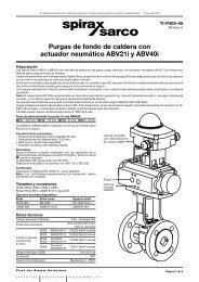 Purga de fondo de caldera ABV21i y ABV40i - Spirax Sarco