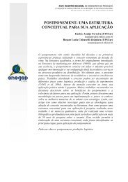 postponement: uma estrutura conceitual para sua aplicação - Abepro