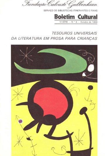 Boletim Cultural - Leitura Gulbenkian - Fundação Calouste ...