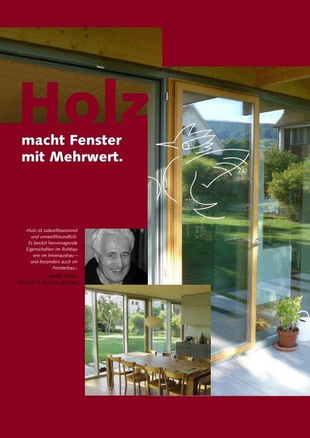 Holz macht Fenster mit Mehrwert - Lignum