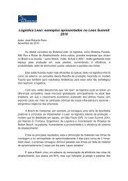 LIB - artigo_cases_logistica[1] - Lean Institute Brasil