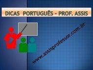 dicas Português – Prof. Assis - Igreja de Cristo Vida Nova