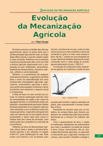 Evolução da Mecanização Agrícola - CNA