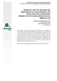 proposta de um método de implementação da produção ... - Abepro