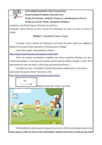 texto do módulo I - Física - UEMS - Universidade Estadual de Mato ...