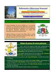 Informativo Diocesano Semanal - Diocese de Erexim