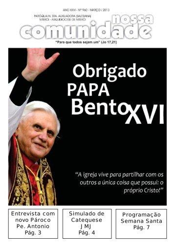 Entrevista com novo Pároco Pe. Antonio Pág. 3 Programação ...