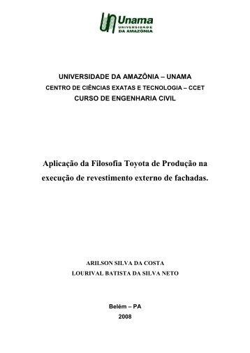 4. Aplicação da Filosofia Toyota de Produção na - Unama