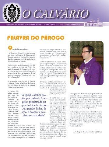PALAVRA DO PÁROCO - Paróquia São Paulo da Cruz – Igreja do ...