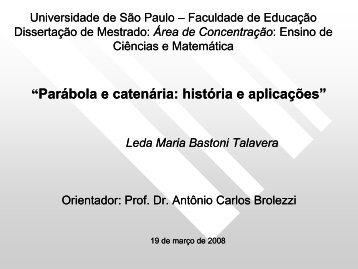 Leda Maria Bastoni Talavera - Nilson José Machado