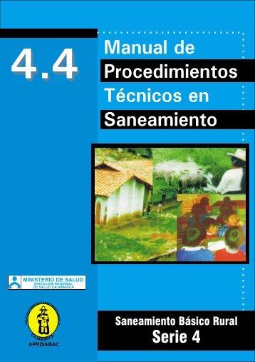 Manual de Procedimientos Técnicos en Saneamiento - BVS Minsa ...