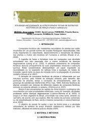 ATIVIDADE ANTIOXIDANTE IN VITRO E FENÓIS TOTAIS DE ...